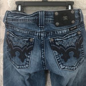 Miss Me jeans with crystals leather JW5307B5 sz 27